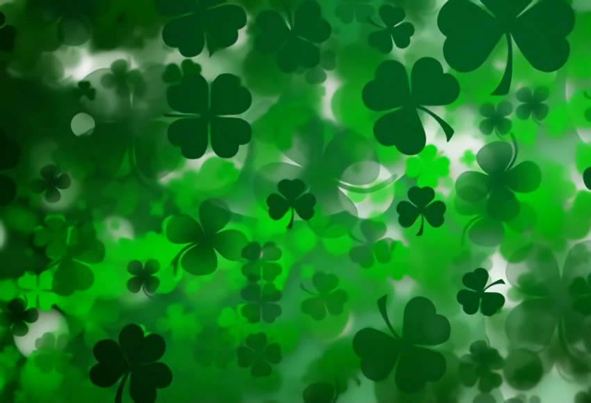 Photo of Happy St. Patrick's Day Green Backdrop for Photo Shoot SH175