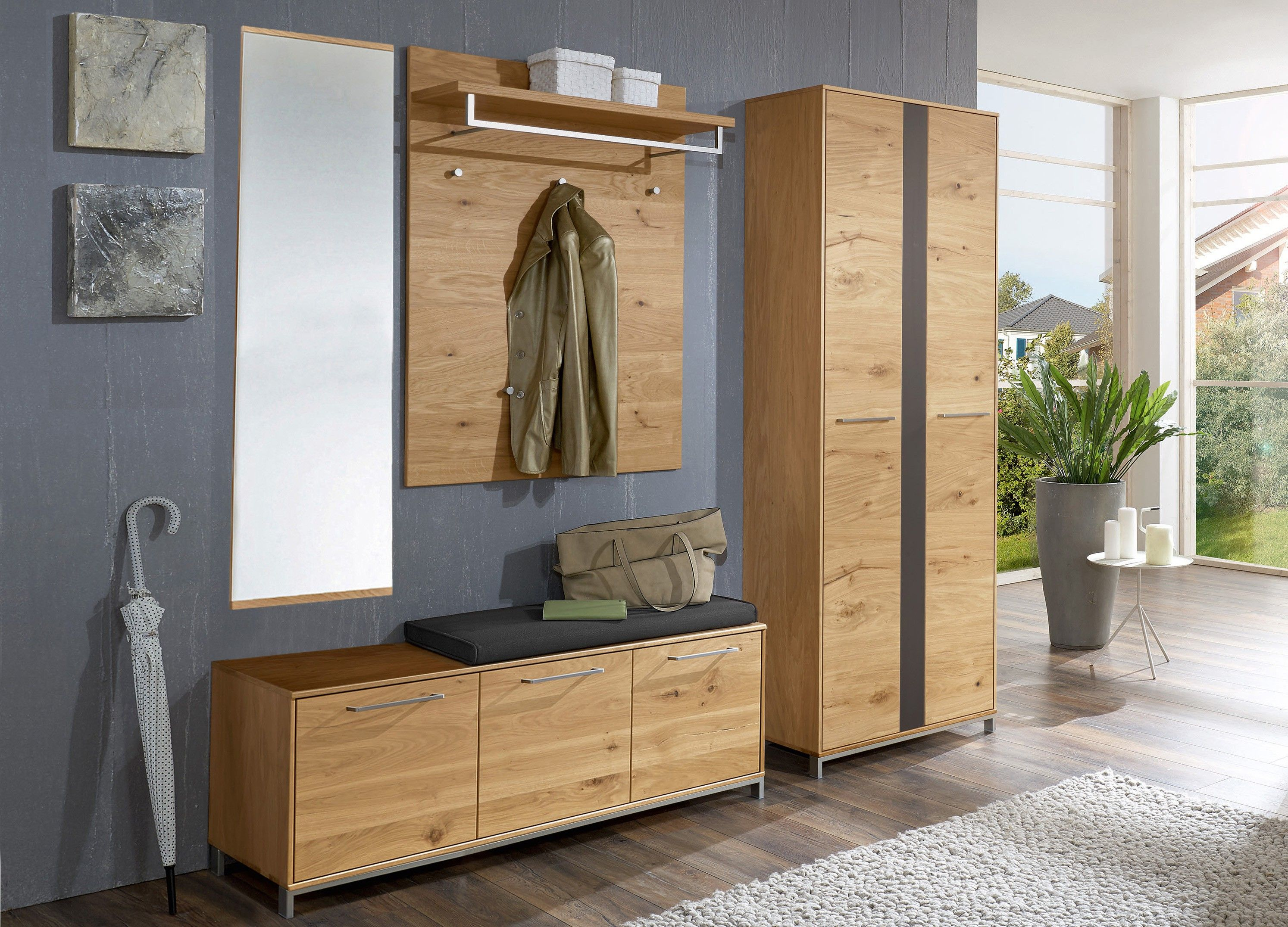 voss garderobe vedo balkeneiche m bel letz ihr online. Black Bedroom Furniture Sets. Home Design Ideas