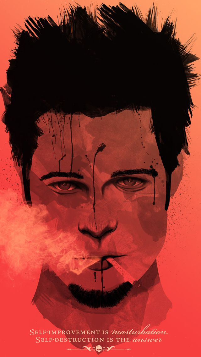 Fight Club Movie Brad Pitt Alternative Movie Posters