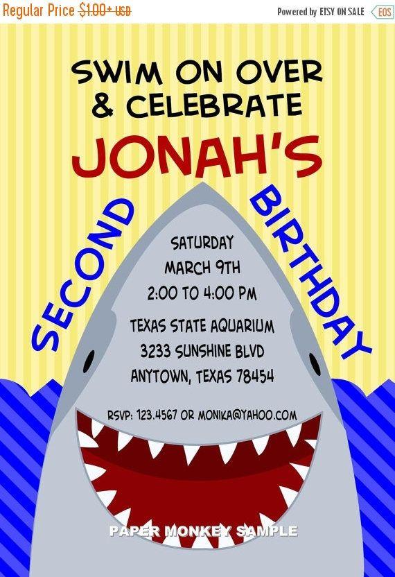 shark birthday party invitations pinterest party invitations