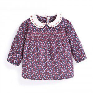 Girls' Floral Embroidered Blouse