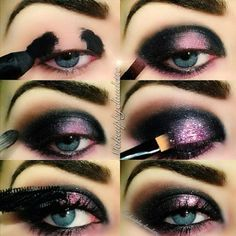 Black and lilac galaxy eye makeup tutorial #evatornadoblog | Eye ...