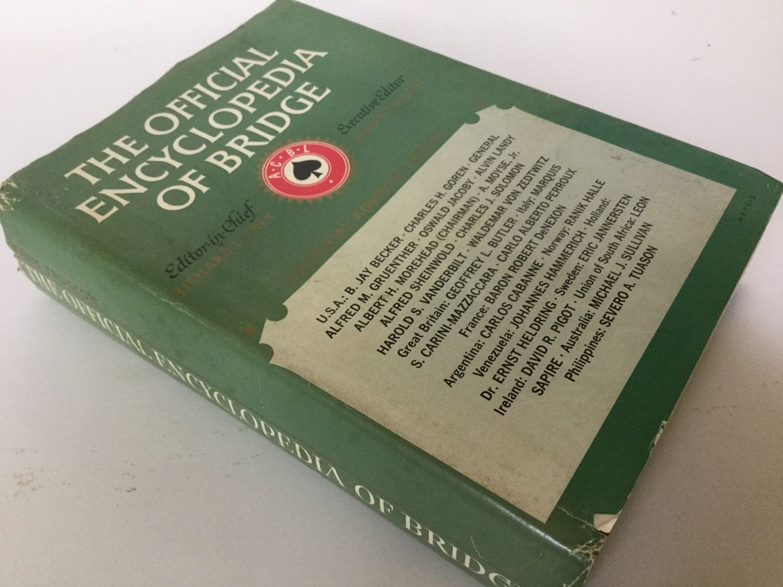 1964 Book Quot The Encyclopedia Of Bridge Quot By Richard L Frey And Alan F Truscott Books Vintage Books Frey