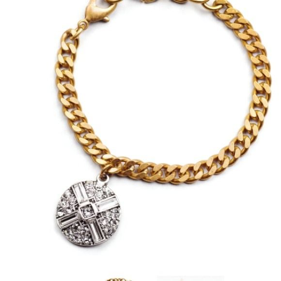 """Lulu Frost for Popsugar bracelet Created exclusively with POPSUGAR, this delicate bracelet is a go-to accessory. Featured in the POPSUGAR Must Have box it makes for a perfect gift.   Brass chain, silvertone plated zinc, glass stones.  Measures 6"""" length with 1"""" chain extension. Lulu Frost Jewelry Bracelets"""