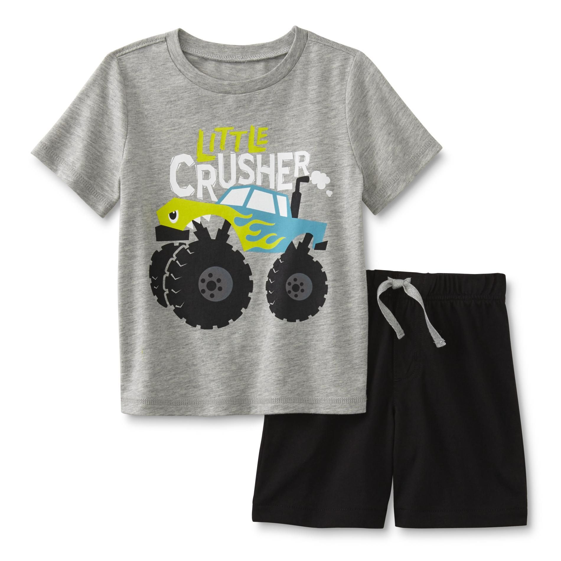 de477e947 WonderKids Infant & Toddler Boy's Graphic T-Shirt & Shorts - Monster Truck