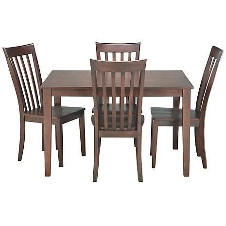 American Signature Furniture Dining Room Arts Crafts Chocolate 5 PC Dinette