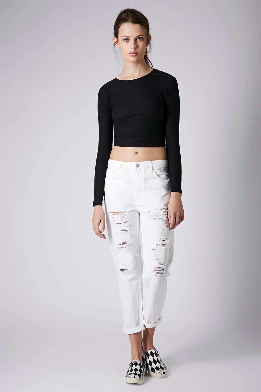 White Ripped Boyfriend Jeans - Xtellar Jeans