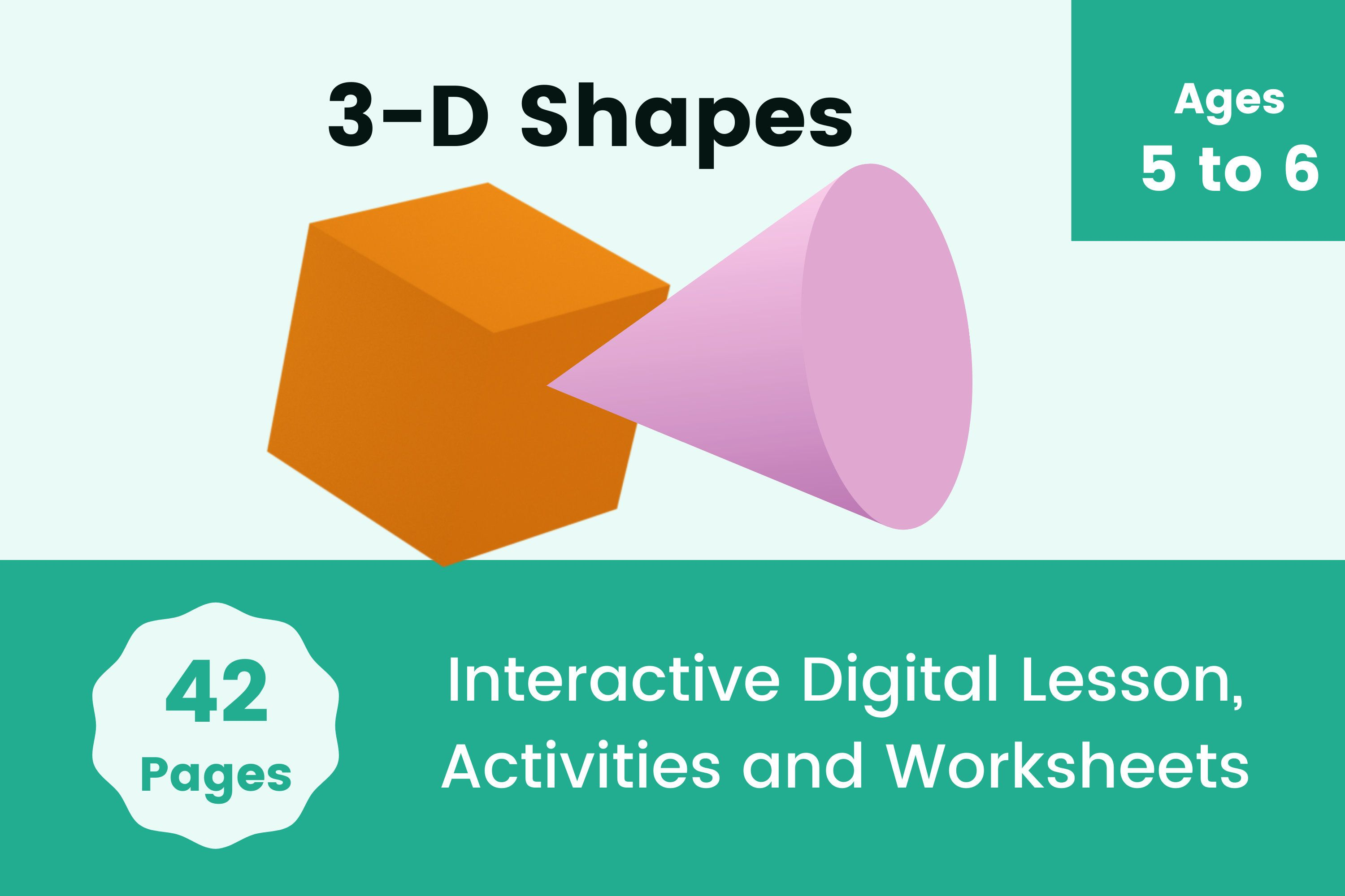 3d Shapes Kindergarten Digital Activity With Printable