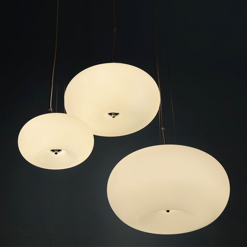 Donut Frosted White Glass Suspension Light Chandelier Ceiling Fixtures Lamp