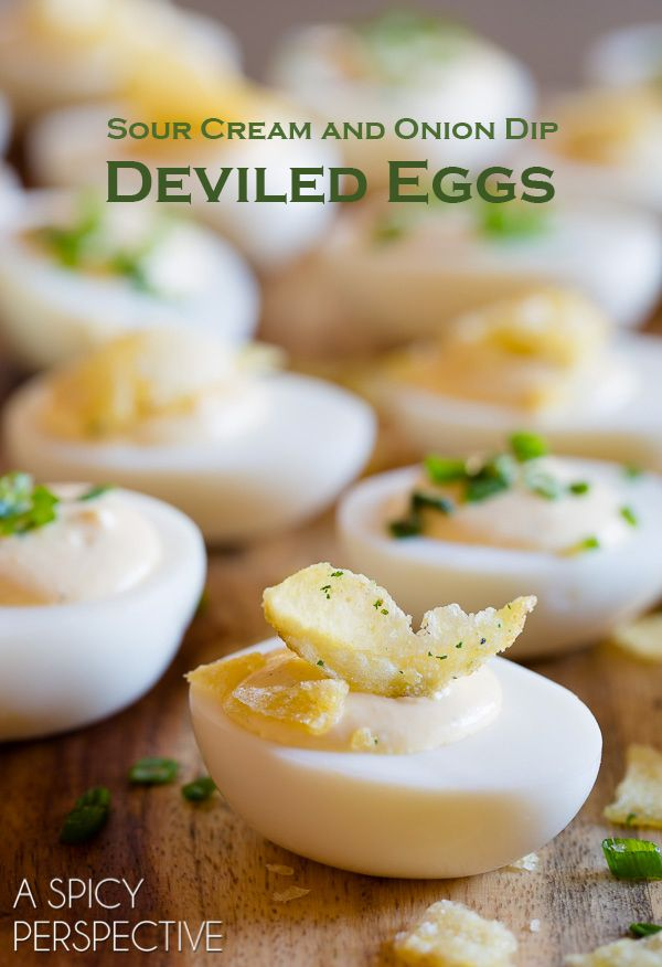 Sour Cream And Onion Dip Deviled Egg Recipe Sour Cream And Onion Deviled Eggs Onion Dip