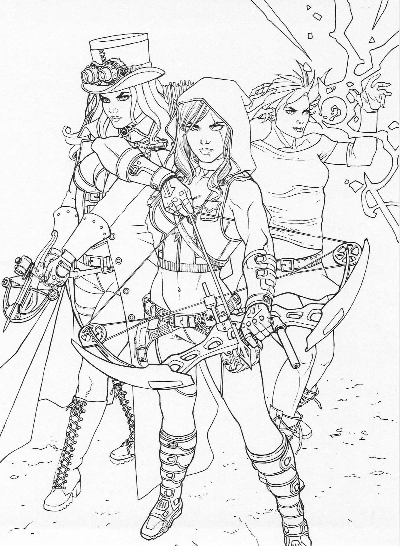 Steampunk coloring page | Steampunk Coloring Pages for Adults ...