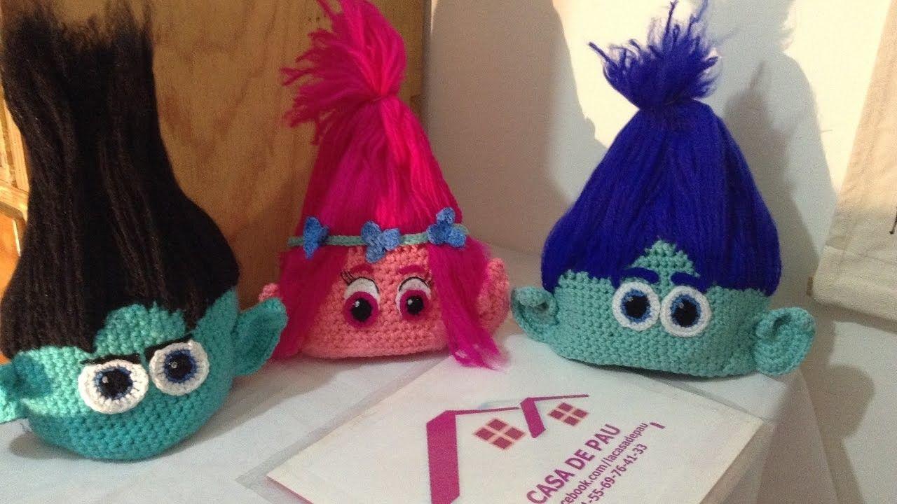 Gorro troll a Crochet parte 2 | Gorros, La niña y Carnavales