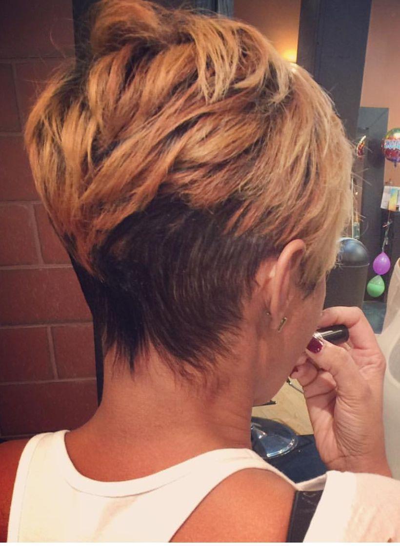 Cool back view undercut pixie haircut hairstyle ideas undercut