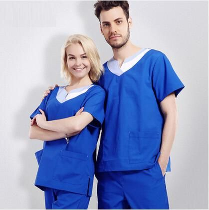 9bd52b89506 Classical Uniform! Pets Hospital Doctor Nurse Medical Work Wear Clothing  Man Women V-neck