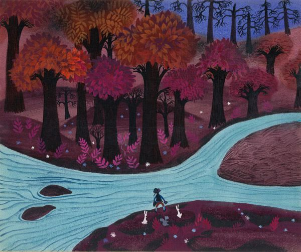 Mary Blair concept art for Johnny Appleseed