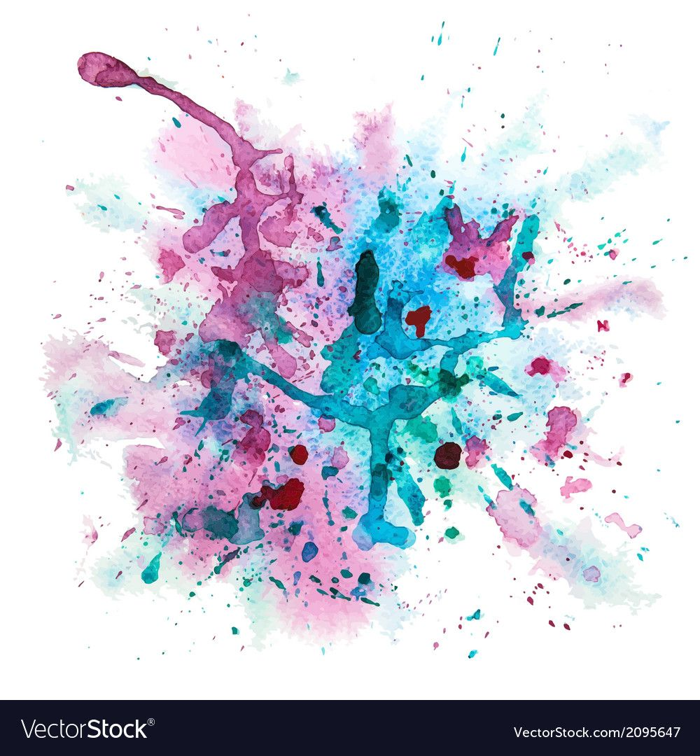 Multicolor Watercolor Splash Royalty Free Vector Image Ad