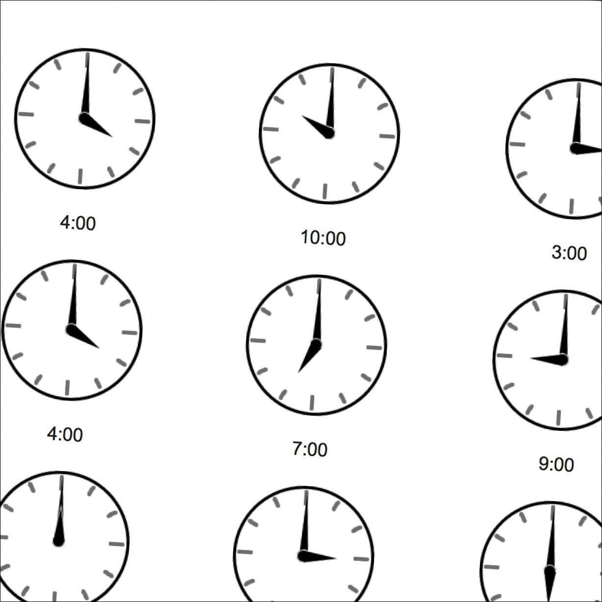 Write The Time Face With No Numbers Full Hours