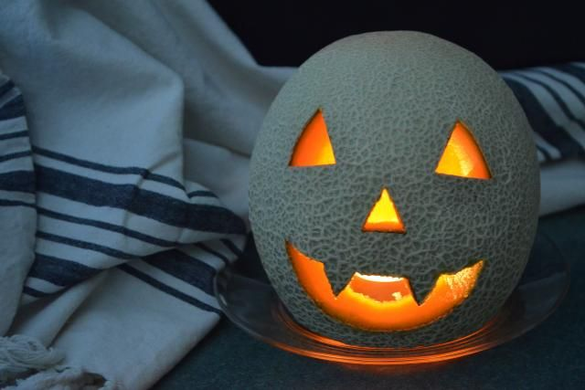 California Cantaloupe Jack O Lantern Carving Tutorial Step By Step