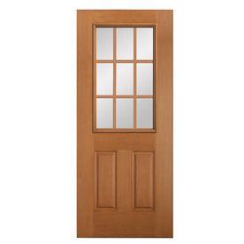Reliabilt 2 Panel 9 Lite Universal Reversible Wood Douglas Fir Unfinished Slab Entry Door