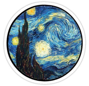 graphic relating to Starry Night Printable named Starry Night time Sticker Goods inside of 2019 Stickers, Tumblr