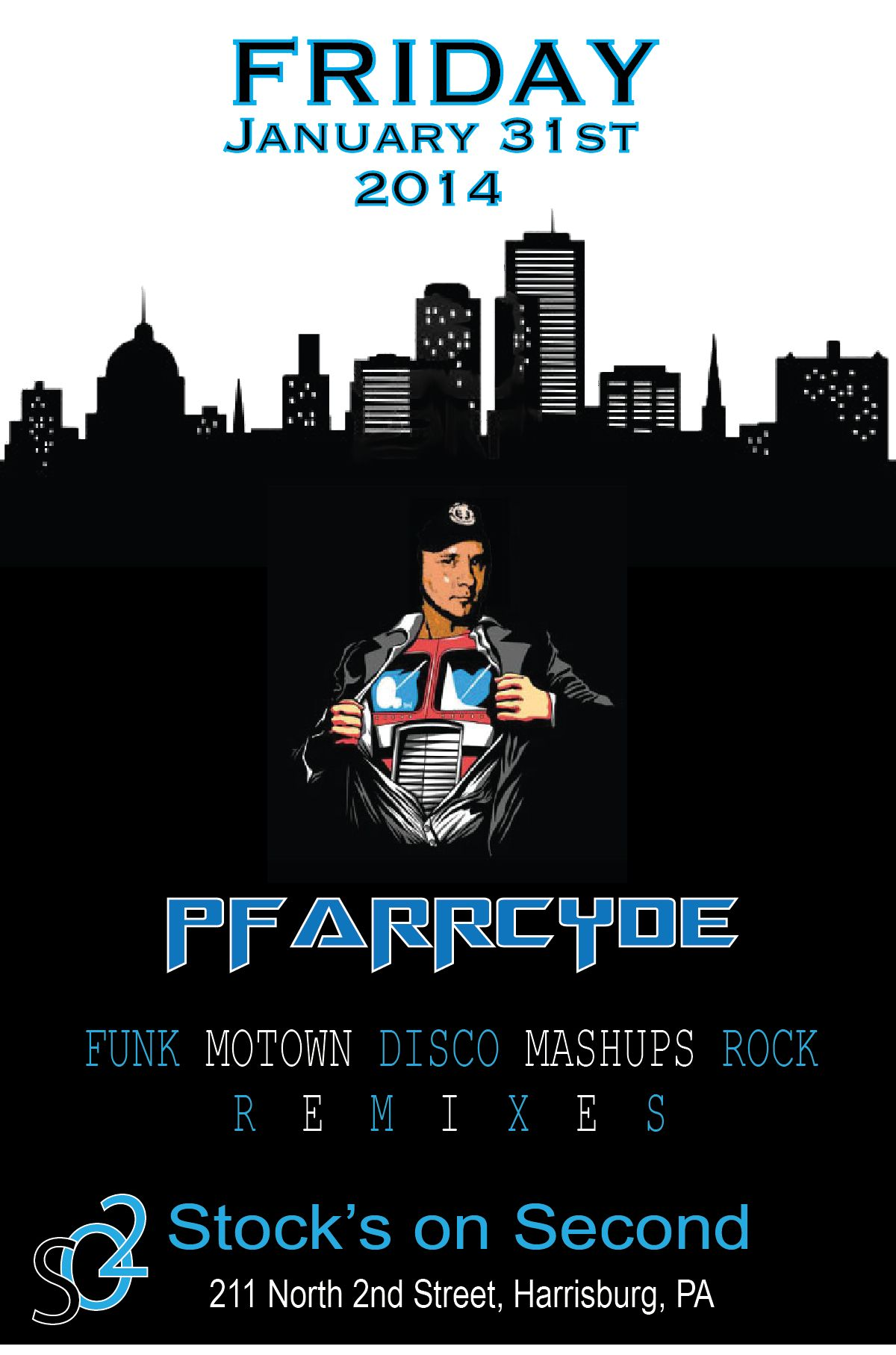 DJ Pfarrcyde Stock's on 2nd. Jan. 31st 2014 Vintage
