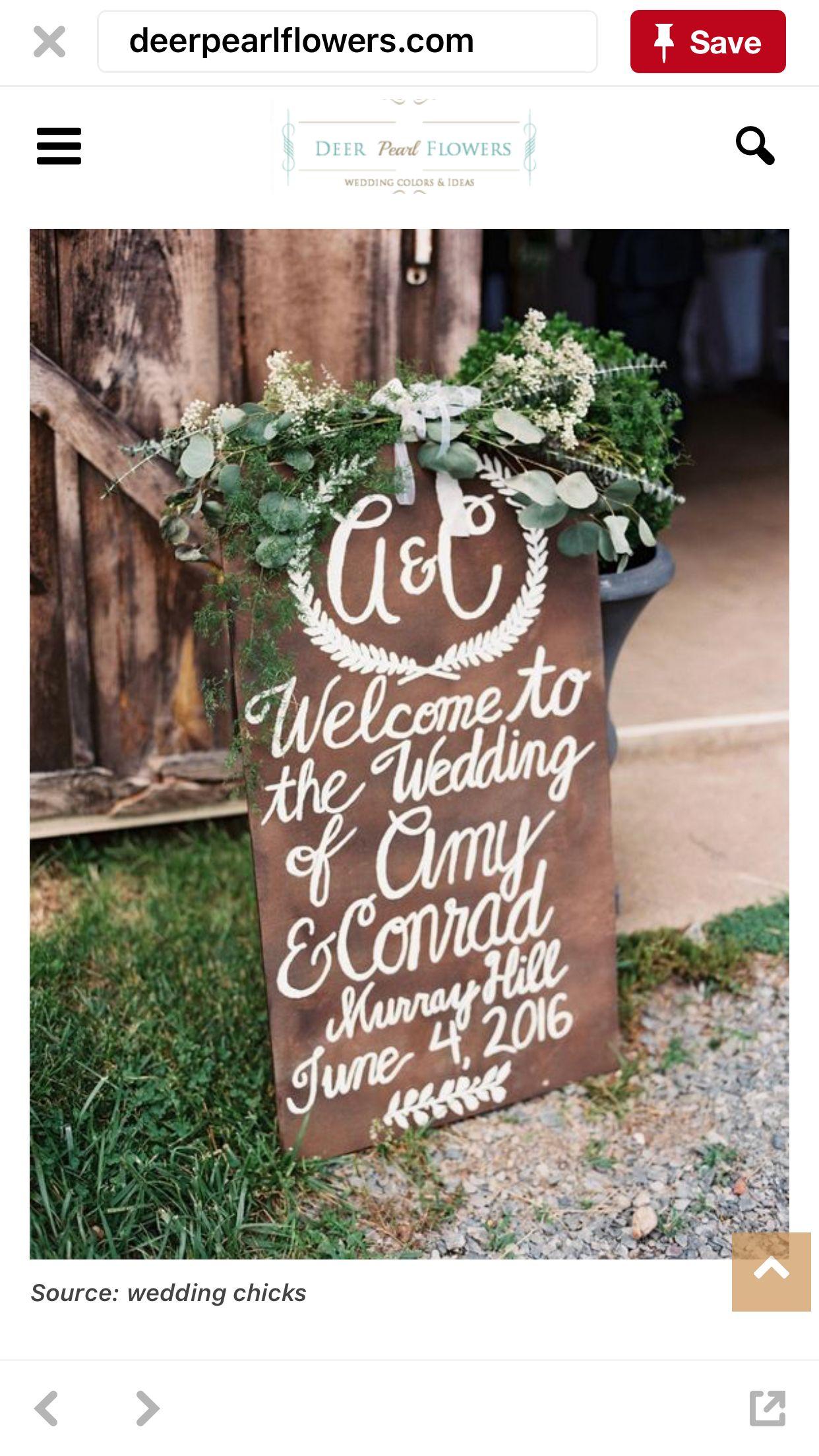 Pin by Crystal on Wedding Signage | Wedding signage, Chic
