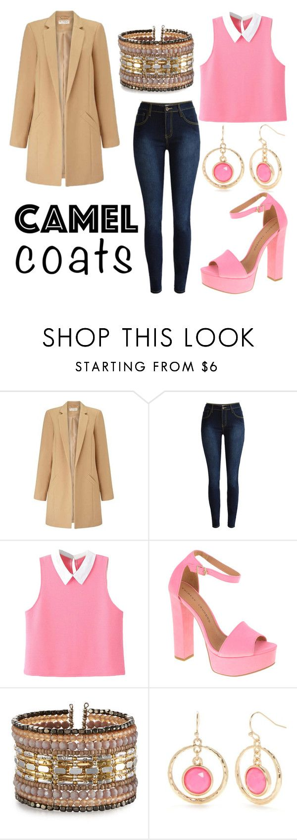 """Camel Coats"" by emma-swon ❤ liked on Polyvore featuring Miss Selfridge, WithChic, Chinese Laundry, NAKAMOL and New Directions"