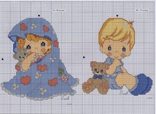 Punto de cruz Precious Moments bebé - Imagui | Cross Stitch ...