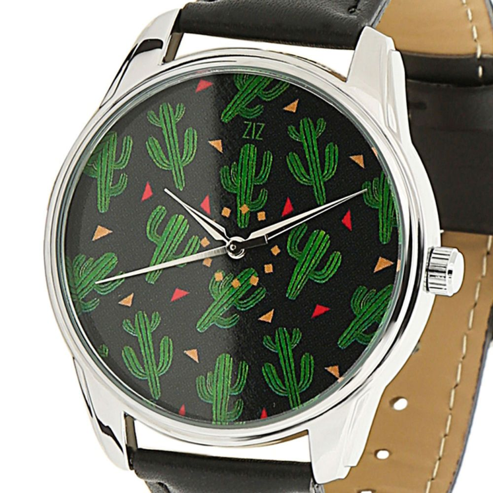 Cactus Art Unisex Quartz Analogue Watch Faux Leather Band Casual Watches New #ZIZ #Casual