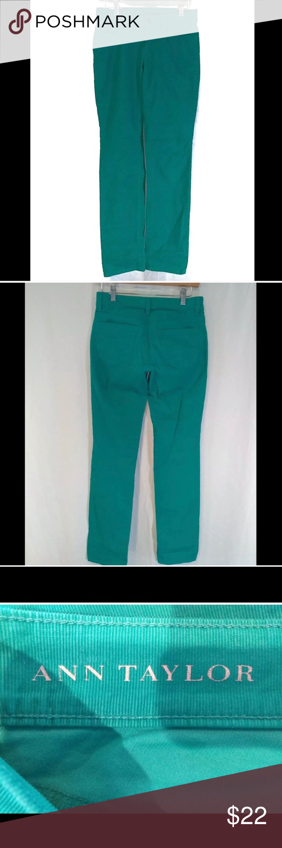Ann Taylor Green Cotton Corduroy Pants Size 0 Ann Taylor corduroy pants size 0 green cotton EUC  Like new pair of green corduroy pants in excellent condition  Approximate Measurements:  Length 40 inches   Waist around 30 inches  Inseam 32 inches  Rise 8 inches  Hips 34 inches around   T1 333056461591  08172019AB Ann Taylor Pants Straight Leg