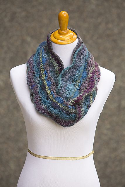 Ravelry: Moonlit Waves Infinity Scarf pattern by Andee Graves