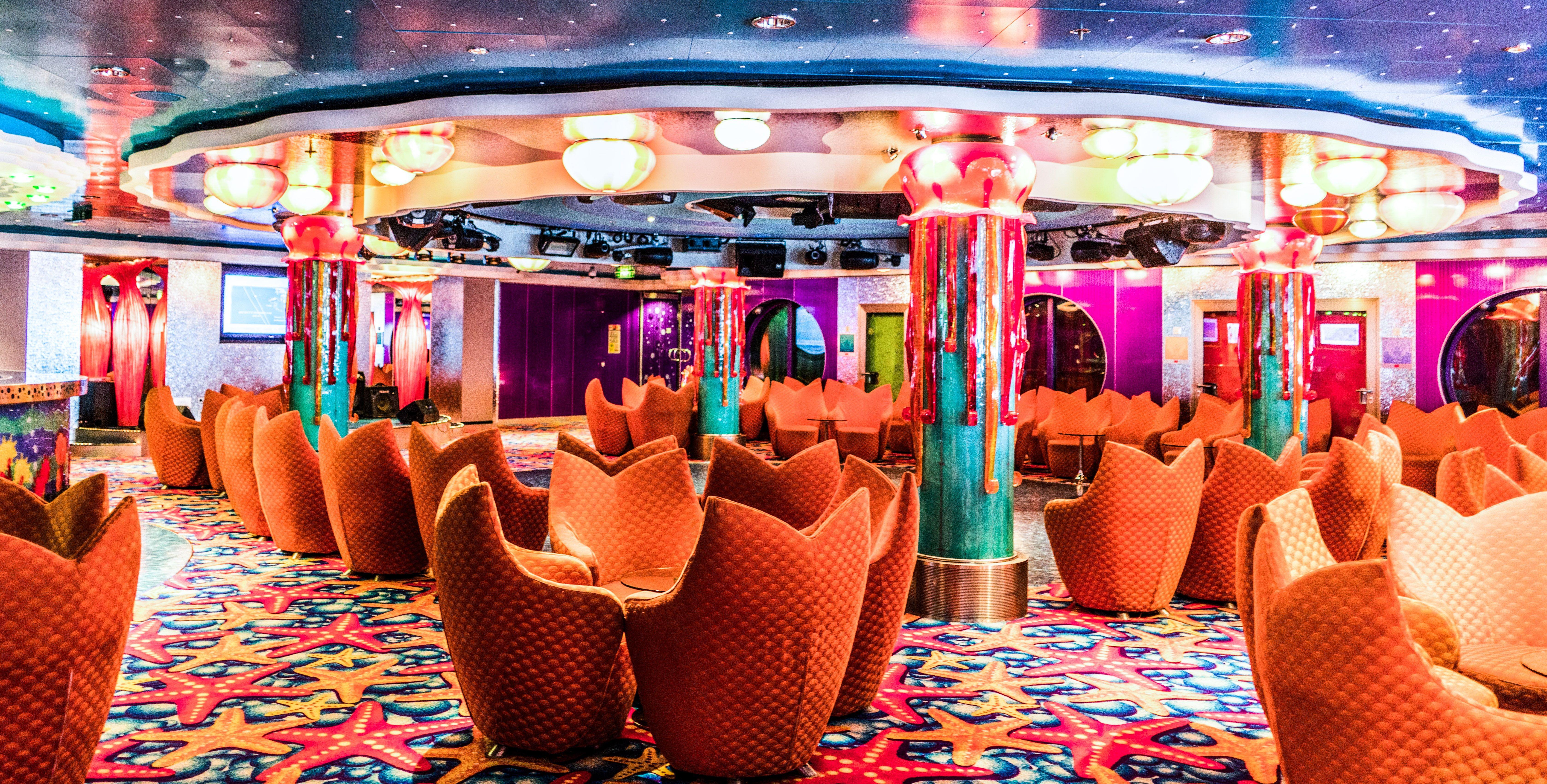 Inside the Norwegien Jade Cruise Ship.