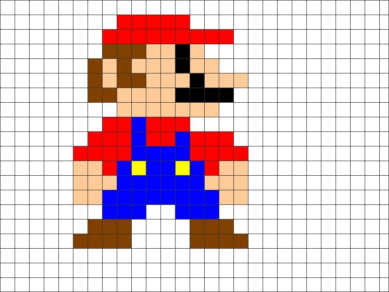 Pic > 8 bit mario characters grid | 8 bit templets for ...