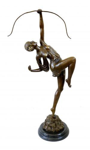 Tall Art Deco Sculpture - Diana - signed Pierre le Faguays - 999 Euro