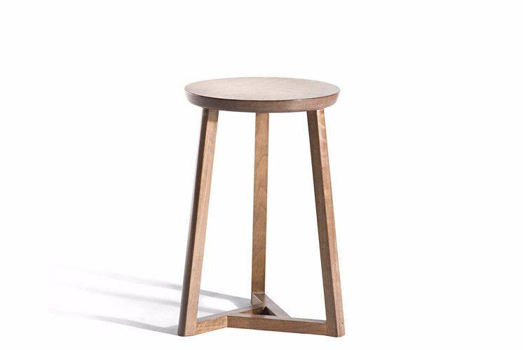 Oslo Walnut Round Side Table