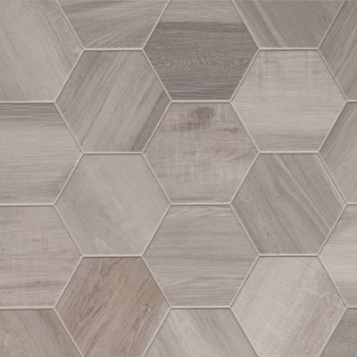 Porcelain Hexagon 8 Inch Isla Wood Look Tile White 6 Sf Missionstonetile Good Source