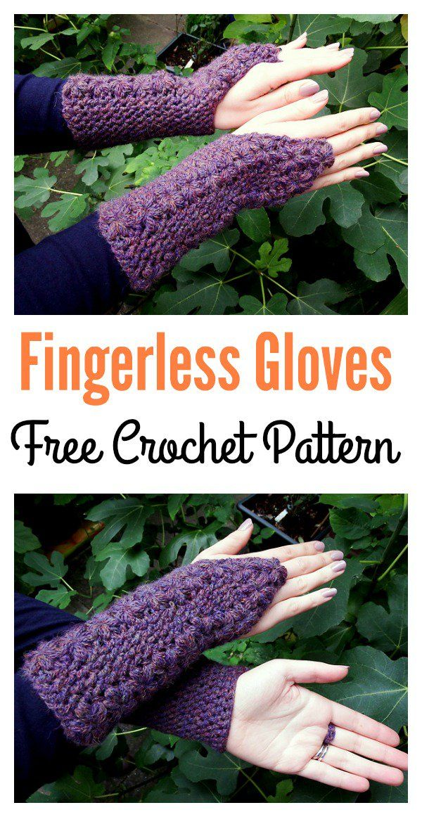 Crochet Fingerless Gloves Free Patterns   PONCHOS   Pinterest ...