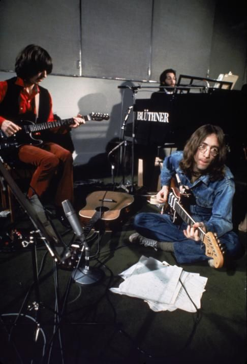 "During the ""Let It Be"" session - The Beatles"