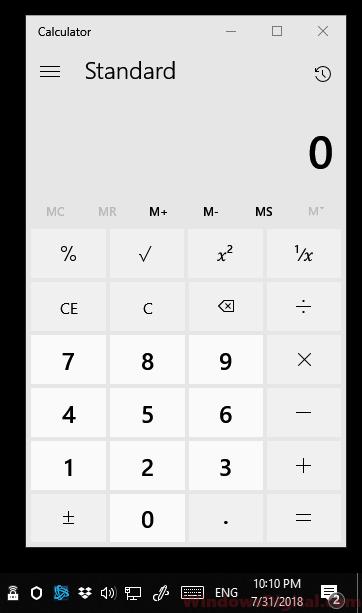 Calculator App Windows 10 Exe