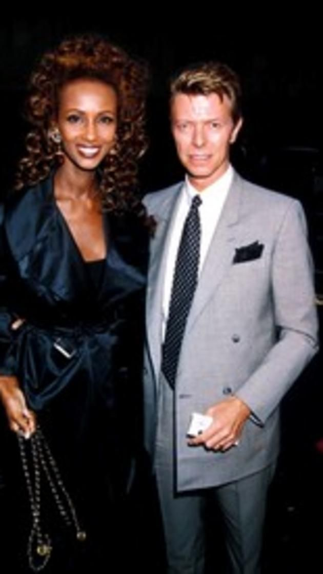 UNITED KINGDOM - CIRCA 1991:  David Bowie_iman At The 'Sunset Boulevard' Adelphi Theatre Londaon, Davidbowieretro  (Photo by Dave Benett/Getty Images) via @AOL_Lifestyle Read more: http://www.aol.com/article/2016/01/11/david-bowie-and-iman-had-a-storybook-romance-for-25-years/21295537/?a_dgi=aolshare_pinterest#fullscreen