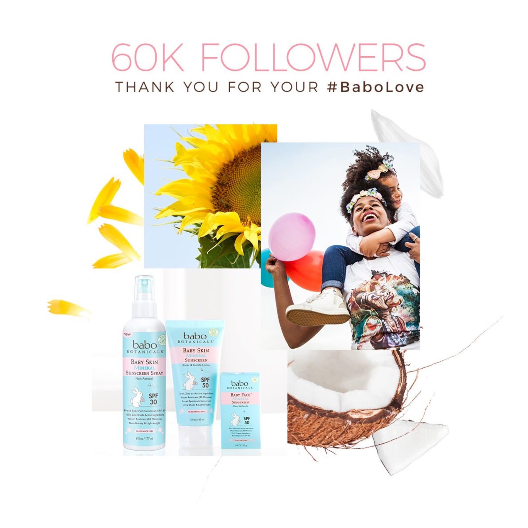 60k Followers Thank You For Your Babolove In 2020 Babo Botanicals Bab Botanical