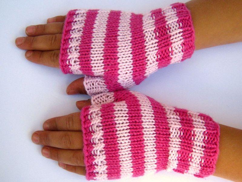 Kinder-Armstulpen 2 - 3 J. Fingerlose Handschuhe von frostpfoetchen ...