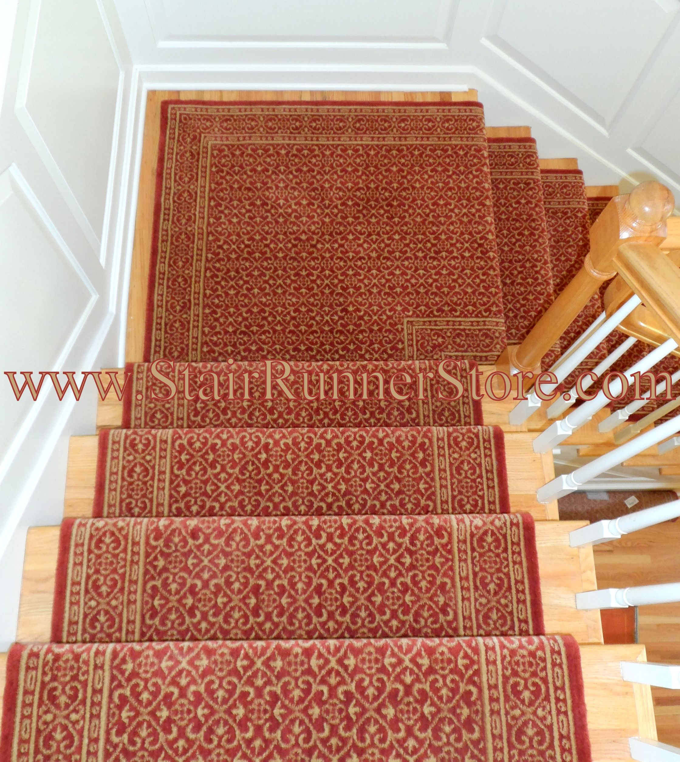 Nourison Chateau Riems 36 Inch Wool Runner Ruby Extra Wide Runner Stair Runner With Landing Stair Runner Stair Runner Installation Carpet Stairs