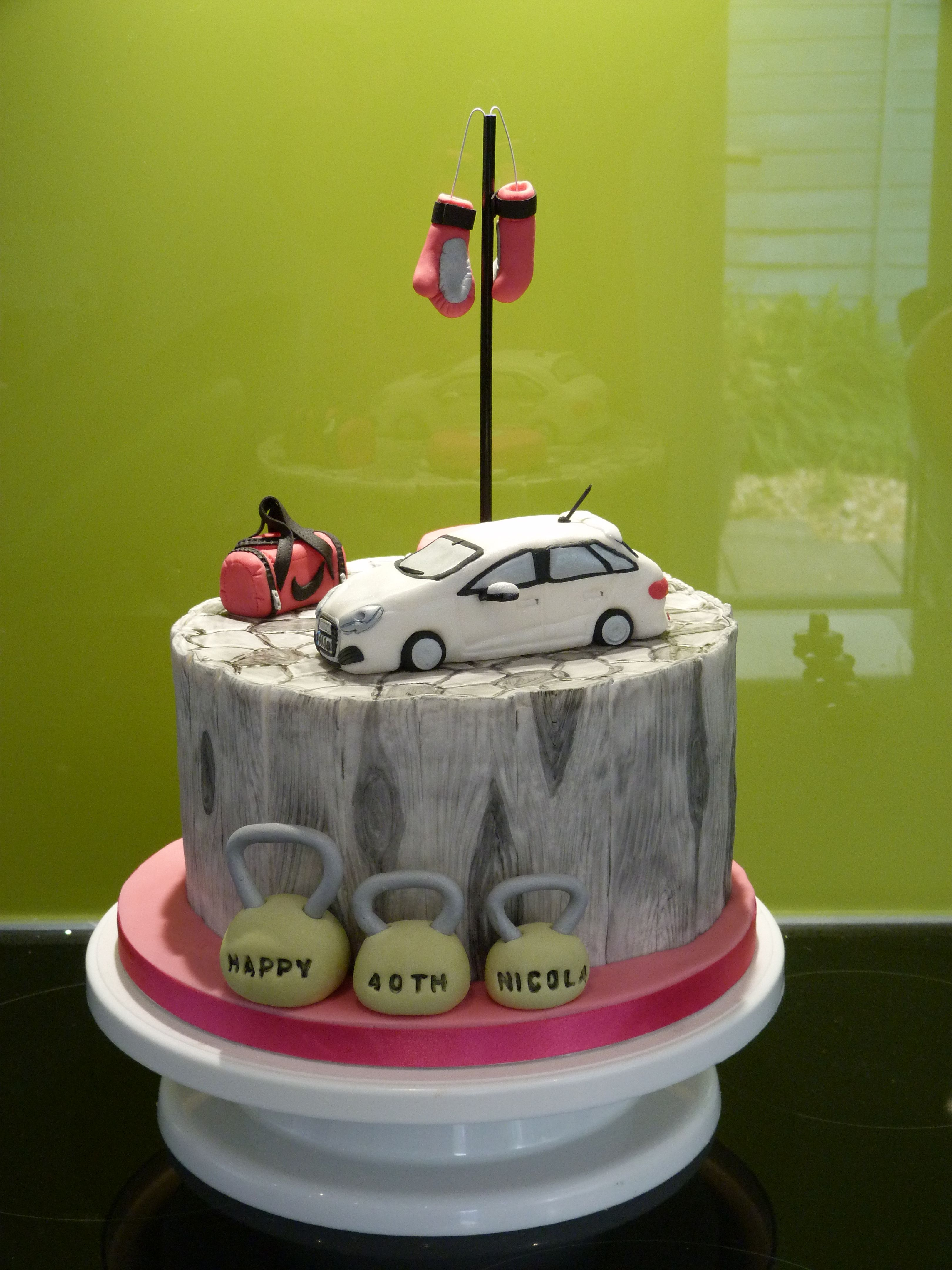 An Audi A1 sits on top of this vanilla bean sponge alongside a