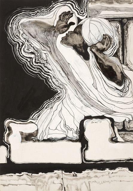 Ibrahim El-Salahi, 'The Muezzin,' 1977, Vigo Gallery