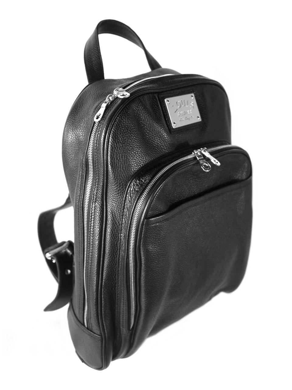 fbfc4c9d92 Louis Stewart Black Leather Original Backpack - Louis Stewart Collection