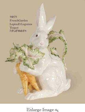 Kaldun & Bogle Lapin Rabbit & Carrots Teapot