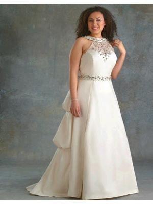 plus size high neckline ivory wedding dresses   maybe someday