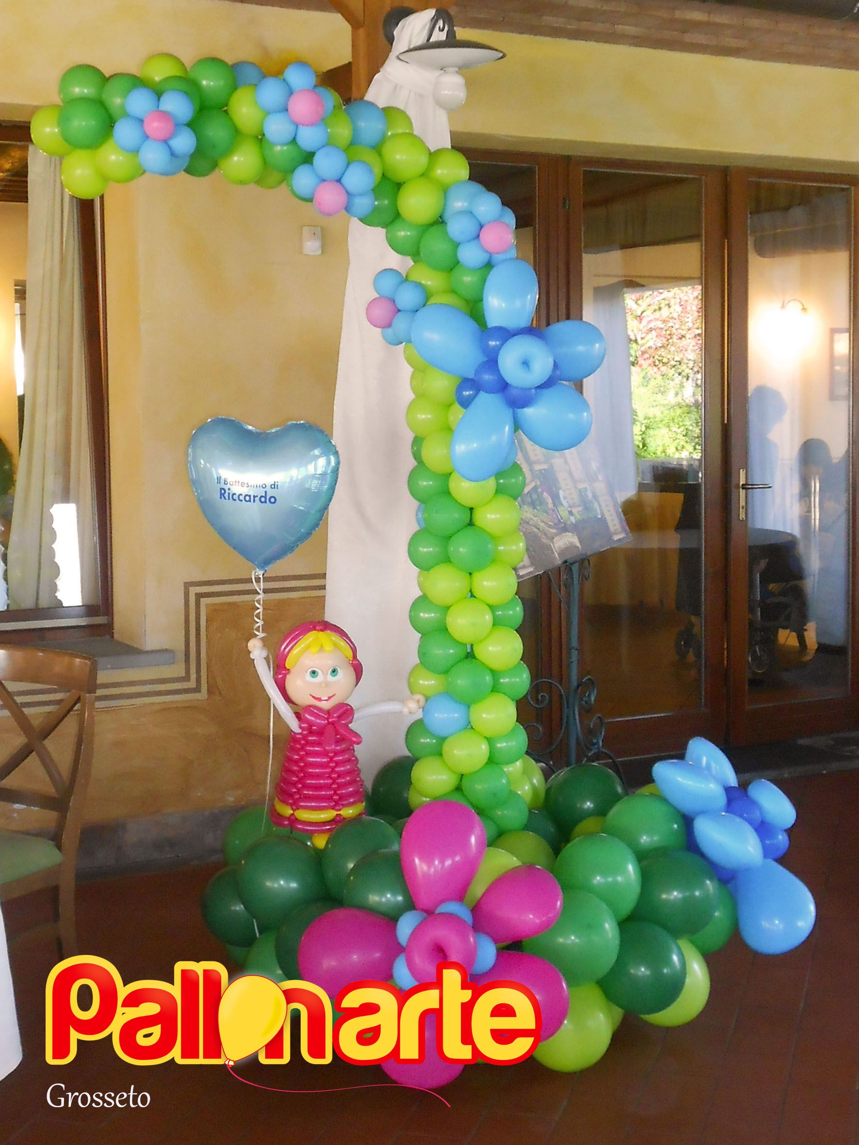 Masha and the bear balloon decoration Masha