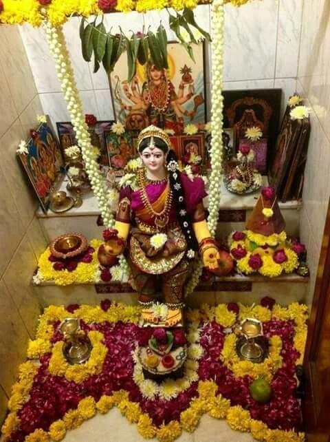 Varalakshmi Vra Than In Pooja Room Pooja